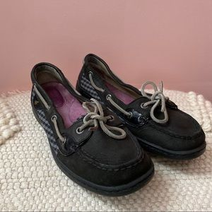 SPERRY Angelfish Black Boat Shoes